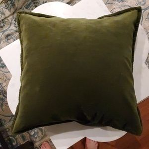 Pottery Barn pair velvet pillows